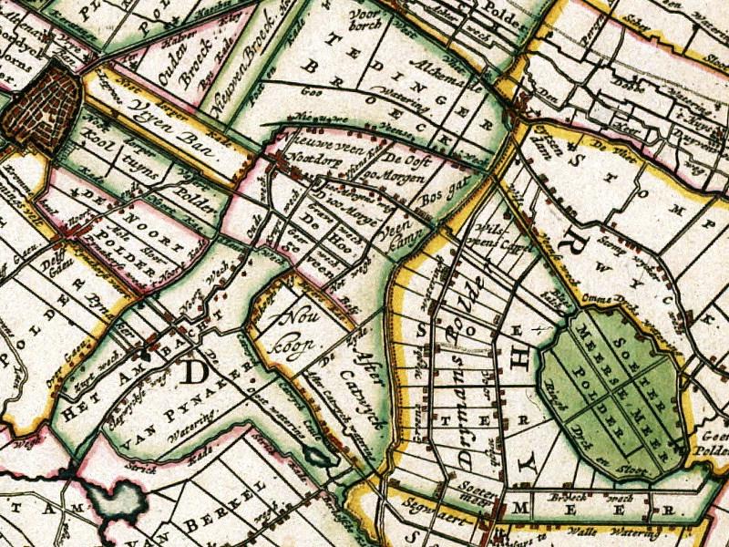 1681 - detail uit de kaart van Nicolai Visscher