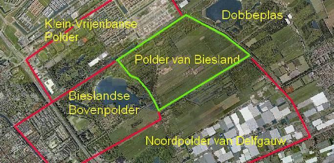 Ligging van de Polder van Biesland.