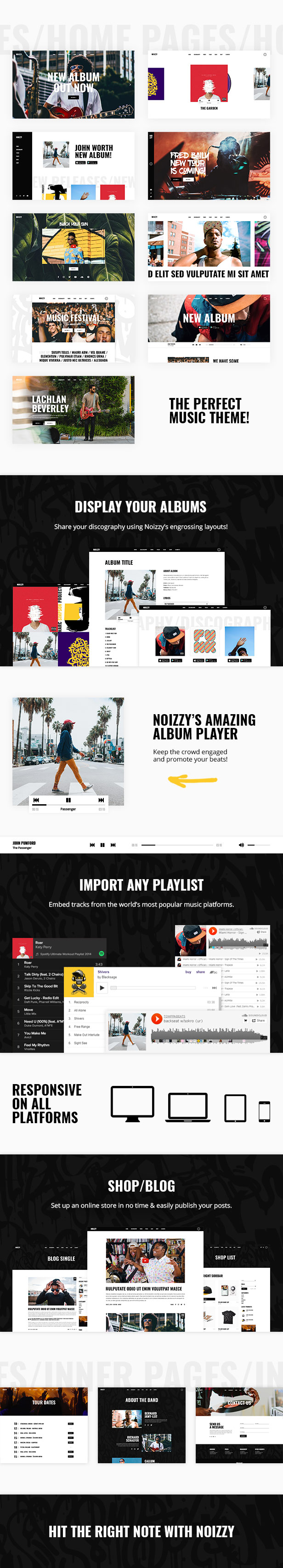 Noizzy - WordPress theme for the music band - 1