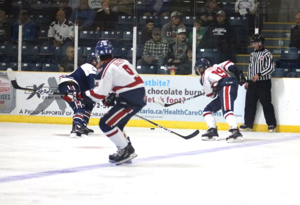 medium resolution of cochrane netminder shayne battler was solid making 45 saves to record the win while rapids starter kevin tardif made 28 stops in defeat