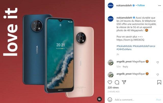Nokia G50 leak