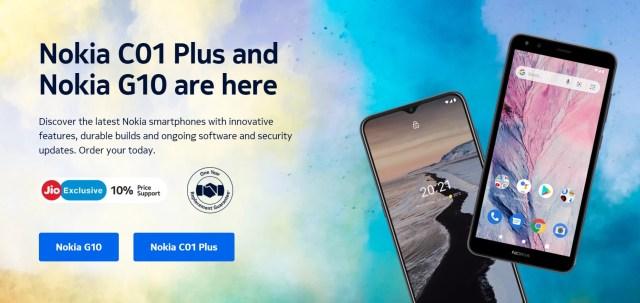 Nokia G10 and Nokia C01 Plus