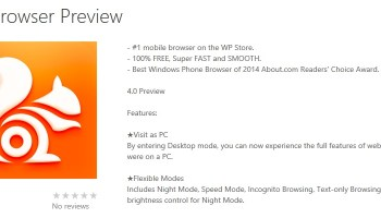 UC Browser for Windows Phone receives a major update