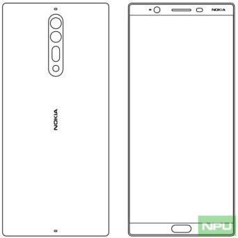 Nokia 8 design sketch