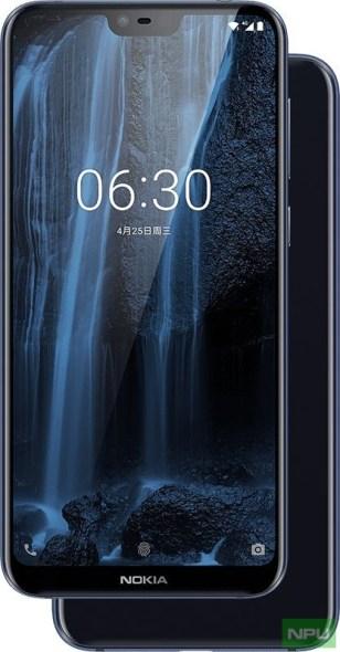 Nokia X6 Blue model