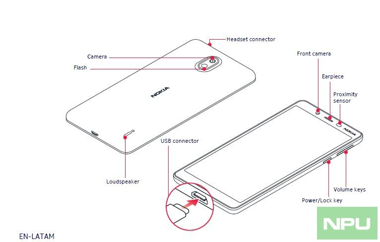 Nokia 1 Plus User Manual, Design, variants, Battery