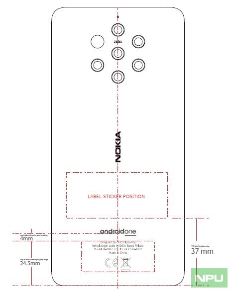 Nokia 9 Pureview (TA-1087) at FCC reveals variants, design