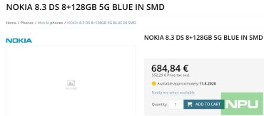 Nokia 8.3 5G 8GB RAM pricing 1 (2)