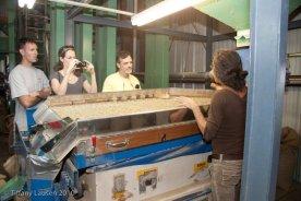 Touring the coffee mill. (Photo courtesy Mountain Thunder)
