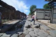 Hopping between the stepping stones in Pompeii
