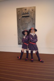 Mother and Daughter Cosplaying characters from the anime Little Witch Academia