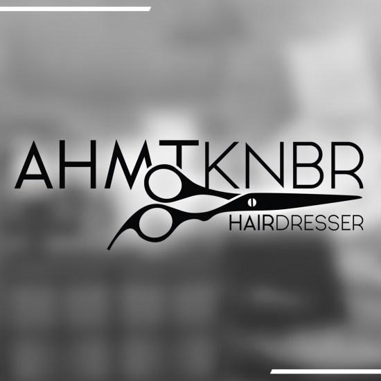 ahmtknbr-kuafor-logo-tasarimi