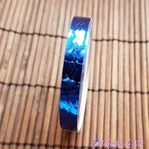 Зиг заг синьо тиксо за нокти