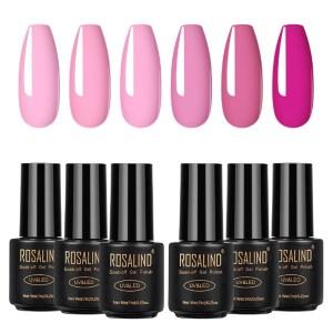 Комплект розови гел лакове Rosalind