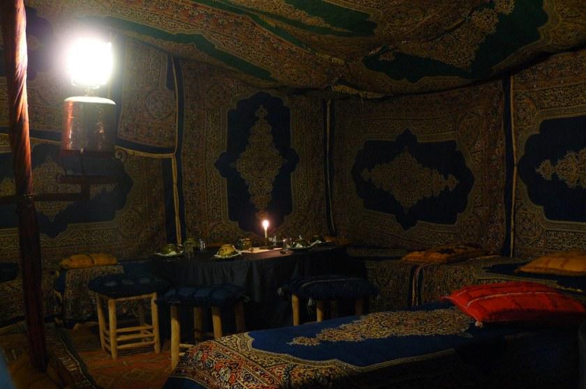 Canteen tent, Bedouin Camp in the Sahara