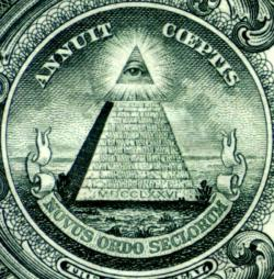 Pyramid, Eye of Horus, on the back of the dollar bill