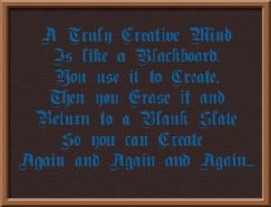 Creative Mind Like a Blackboard