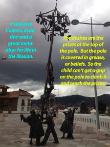 Statue in Cuenca, Ecuador