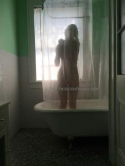 NOLA courtesan Annie naked in shower