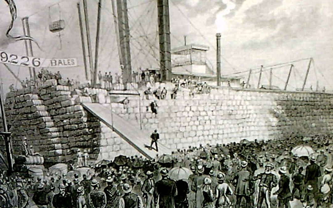 Mississippi Riverboats–The Henry Frank at the New Orleans Levee, 1854