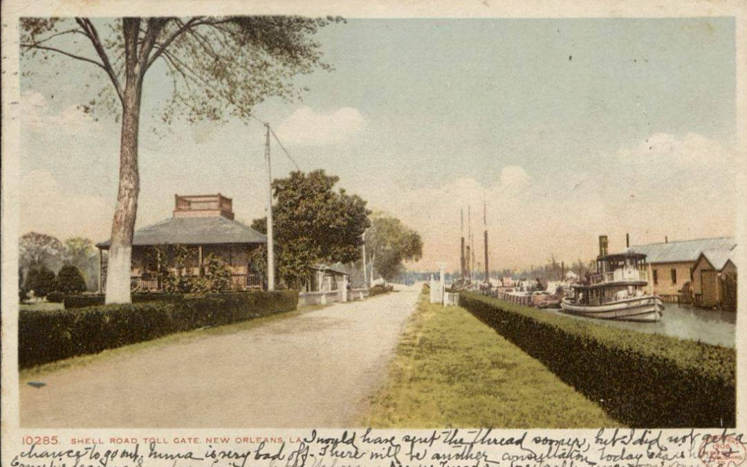 Toll Road at West End along the New Basin Canal, New Orleans, 1907