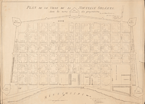 French Quarter Map 1808