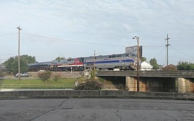 "Amtrak Crescent – ""Anniversary"" Locos haul to Atlanta and NYC"