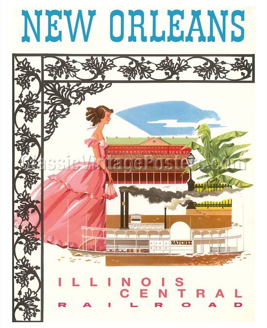 Illinois Central Railroad – Ads through the years #TrainThursday