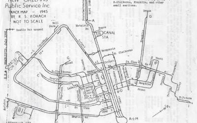 1945 Streetcar Track Map offers insight into changes #StreetcarMonday