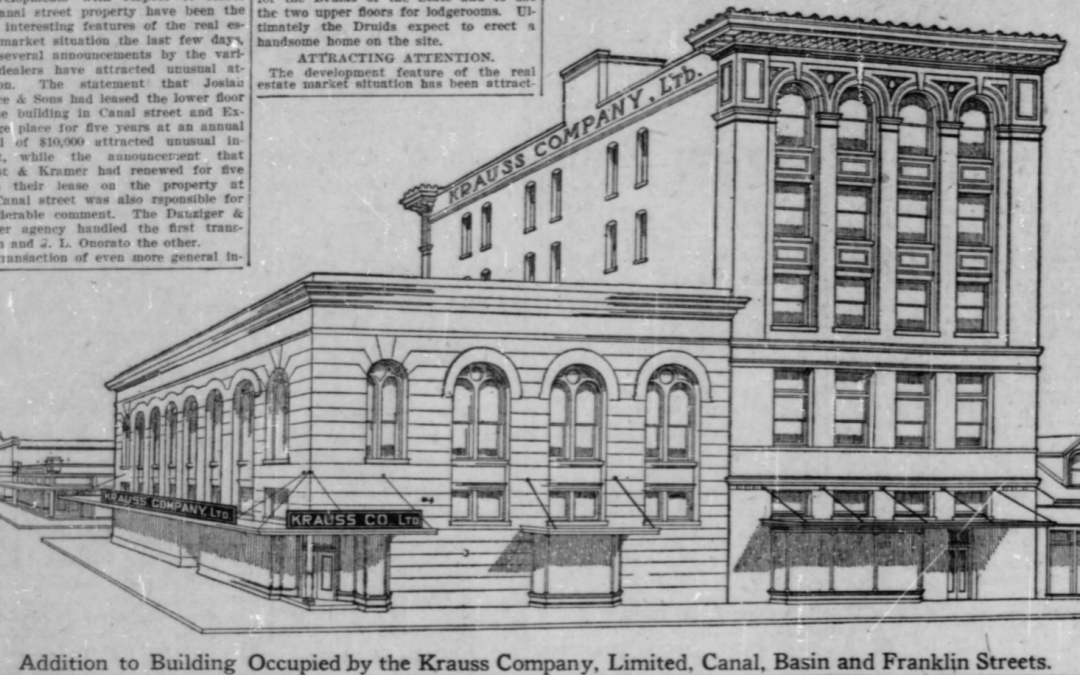Krauss Department Store 1910 – The store's first expansion