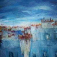 Elisabeth Calmes   Les toits lumineux   Nolan-Rankin Galleries - Houston