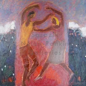 Sarazin NR4054 Danse au dancing 30 cm x 30 cm 20 x 20 inches | Nolan-Rankin Galleries - Houston