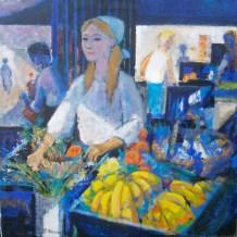 La Marchande de fruits et de legumes |Pierre Neveu | Nolan-Rankin Galleries - Houston