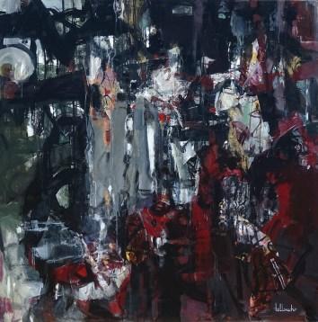 Mystère   NR5234   100cm x 100cm: 39.5 x 39.5 in.   Michèle Lellouche   Nolan-Rankin Galleries - Houston