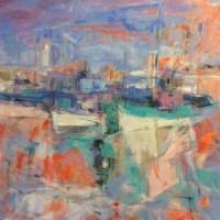 Michèle Lellouche | Nolan-Rankin Galleries - Houston | Bateau de pêche | NR5335 | 20 Figure: 28.75 x 25.5 in.