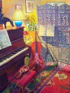 NR5455 La coin de musique 80 Figure: 57.5 x 44.875 inches William Michaut | Nolan-Rankin Galleries - Houston