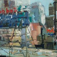 NR5465 Sur les toits de NY 25 Marine: 31.875 x 21.25 inches Renée THÉOBALD Nolan-Rankin Galleries - Houston