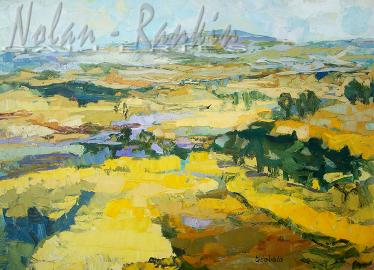 NR5469 Champs de Colzas 40 Paysage: 38.375 x 28.75 inches Renée THÉOBALD Nolan-Rankin Galleries - Houston