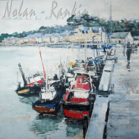 NR5504 Port breton-100cm x 100cm: 39.375 x 30.375 inches Renée THÉOBALD Nolan-Rankin Galleries - Houston