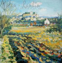 NR5505 Village perche (Grignan) 100cm x 100cm: 39.375 x 39.375 inches Renée THÉOBALD Nolan-Rankin Galleries - Houston