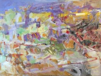 Vue lointaine   NR5360   60 figure: 51.25 x 38.25 in.   Michèle Lellouche   Nolan-Rankin Galleries - Houston