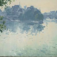 Matin au bord de la Seine | Paul Jean Anderbouhr | Nolan-Rankin Galleries - Houston