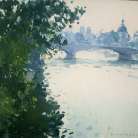 Bord de seine | Paul Jean Anderbouhr | Nolan-Rankin Galleries - Houston