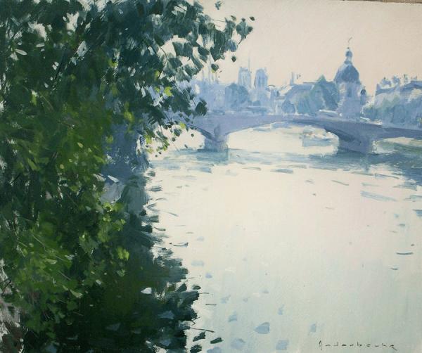 Bord de seine | Paul Jean Anderbouhr | Nolan-Rankin Galleries - Houston