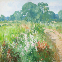 Chemin de campagne en Loir et cher | Paul Jean Anderbouhr | Nolan-Rankin Galleries - Houston