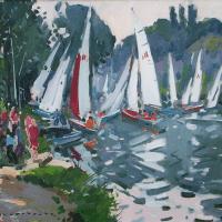C286 |Les Regate |10Figure: 21.0625 x 18.125 inches | Paul Jean Anderbouhr | Nolan-Rankin Galleries.com
