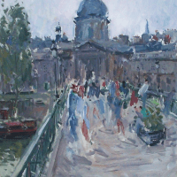 Sur le Pont des Arts | Paul Jean Anderbouhr | Nolan-Rankin Galleries - Houston