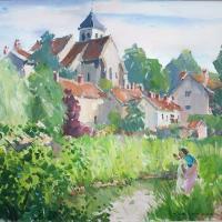 Eglise de Montigny sur Loing | Paul Jean Anderbouhr | Nolan-Rankin Galleries - Houston