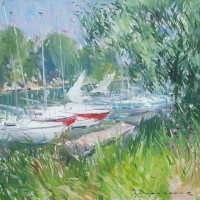Bord de marne Creteil | Paul Jean Anderbouhr | Nolan-Rankin Galleries - Houston