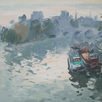 La Seine au Pont Neuf | Paul Jean Anderbouhr | Nolan-Rankin Galleries - Houston